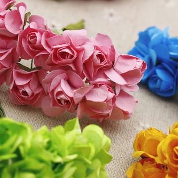 mini flor de papel(unidade)