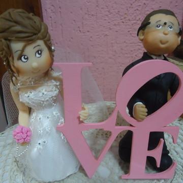 Topo de Bolo / Noivinhos Love