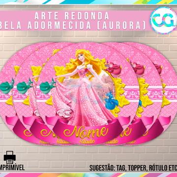 Bela adormecida (Princesa Aurora) - Arte Redonda Digital