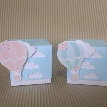 Caixa cubo balão de ar
