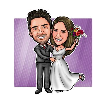 Caricatura - Convite de Casamento Online