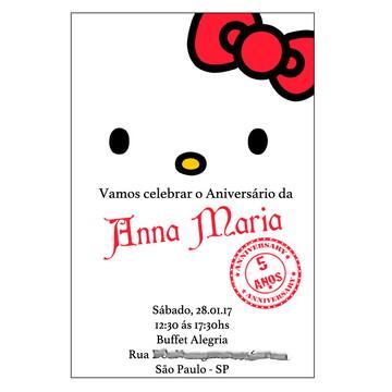 Convite Hello Kitty Frete Grátis 10x15 Fotográfico