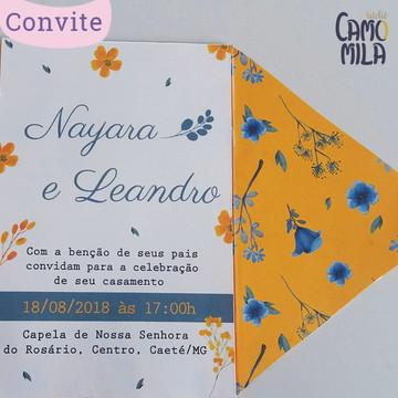 Convite de Casamento Flores no Campo