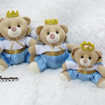 Kit 3 ursos Majestade Azul