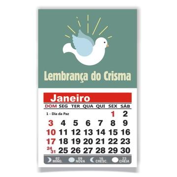 CRISMA - ÍMÃ DE GELADEIRA C/ CALENDÁRIO