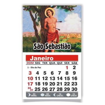 ÍMÃ DE GELADEIRA C/ CALENDÁRIO SÃO SEBASTIÃO