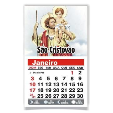 ÍMÃ DE GELADEIRA C/ CALENDÁRIO SÃO CRISTOVÃO