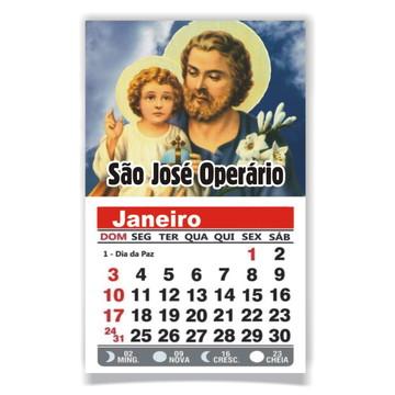 ÍMÃ DE GELADEIRA C/ CALENDÁRIO SÃO JOSÉ OPERÁRIO