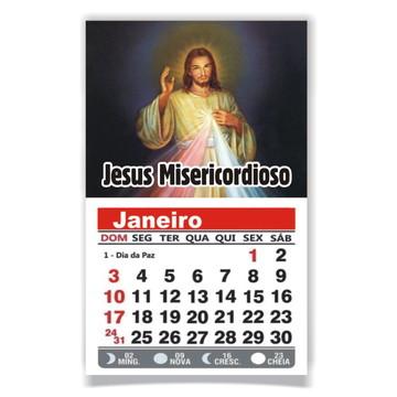 ÍMÃ DE GELADEIRA C/ CALENDÁRIO JESUS MISERICORDIOSO