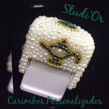 Carimbo Luxo Personalizado lâmpada + borrachinha