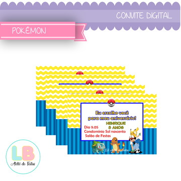 convite digital | pokémon | arte digital