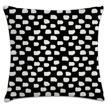capa de almofada borrões preto e branco
