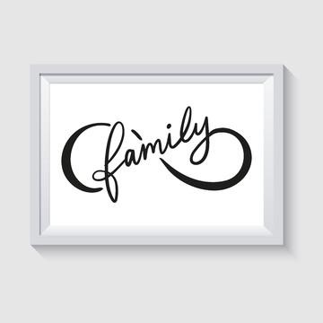 ARTE DIGITAL PARA POSTER/QUADRO - SÍMBOLO INFINITO FAMILY