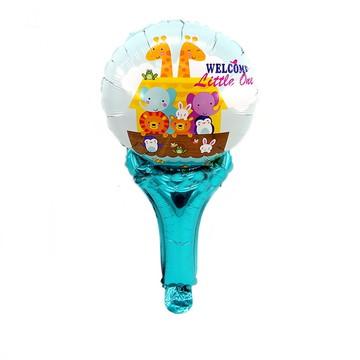 30 Balões Enfeite Animais,Arca de Noé + 30 Bases baleiro