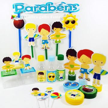 Lembrancinhas Pool Party Meinos kit 105 Itens