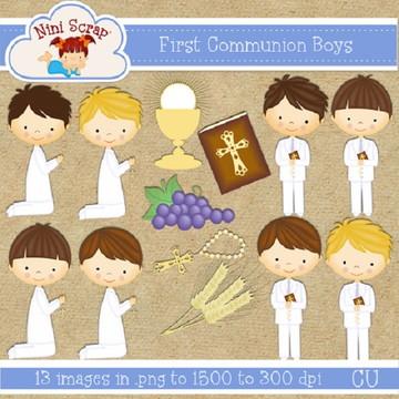 Kit Scrapbook Digital Anjos E Batismo