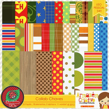 Kit Scrapbook Digital Chaves