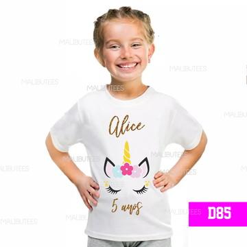 Camiseta infantil Unicornio Personalizada aniversario