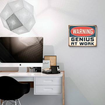 Placa Decorativa Genius at Work