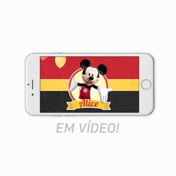 Convite Animado Mickey Mouse - Vídeo