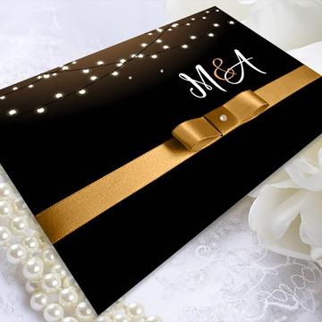 Convite de Casamento Varal de Luzes