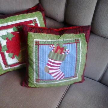 Almofadas de patchwork