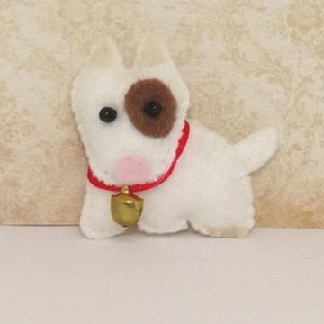 Mini cachorrinho pit bull de feltro