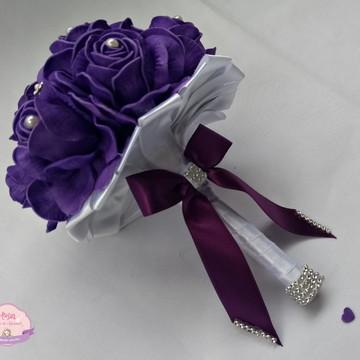 Buquê para Madrinhas - Violeta e Branco