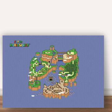 Poster Mapa do Mario A4