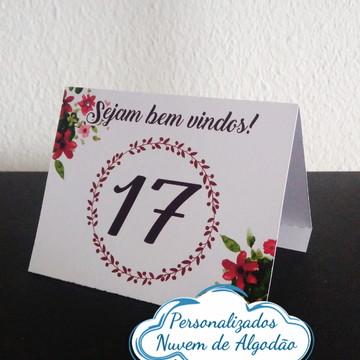 Cartão Marcação de Mesa - Casamento
