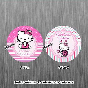 Adesivo Latinha Hello Kitty