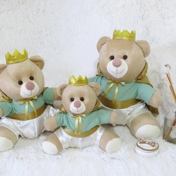 Kit 3 ursos Majestade Verde