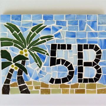 Número apartamento em mosaico coqueiro