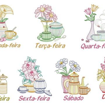 Matrizes de bordado - Semaninha de flores