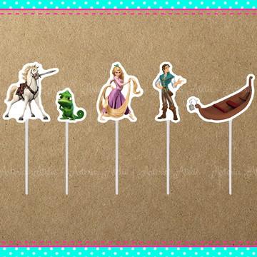 Topper Doces Rapunzel / Enrolados