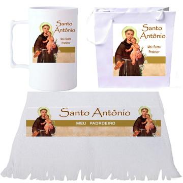Kit Santo Antônio - Sacola + Toalha + Caneca, Lembrança