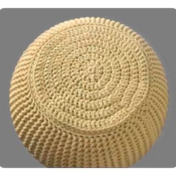 Puff Maxi Trico com bases em Croche - Pequeno