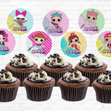 Topper LOL Cupcake Personalizado