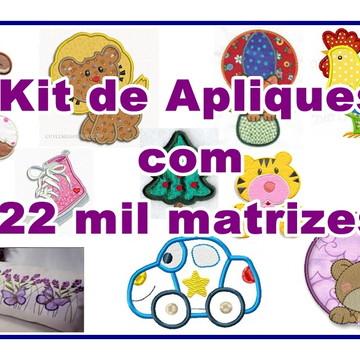Matriz Bordado Aplique Kit c/22 mil Matrizes Agulha Feliz