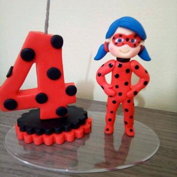 Ladybug Topo de bolo Biscuit - Miráculos