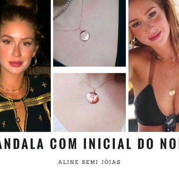 Mandala inicial nome - Semi jóias