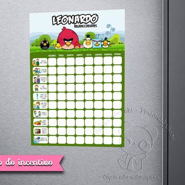 Quadro do Incentivo Angry Birds