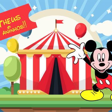 Painel de Festa Mickey Circo