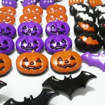 10 botões infantis halloween para laços pet