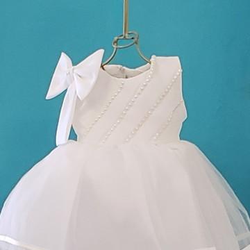003ab0389a Vestido batizado 5 a 8m cetim