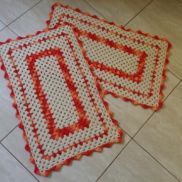 bf7111f786 Jogo de tapetes para cozinha de crochê