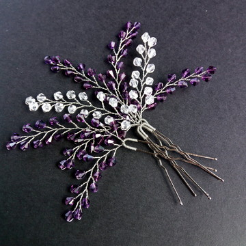 Hair pin cristais