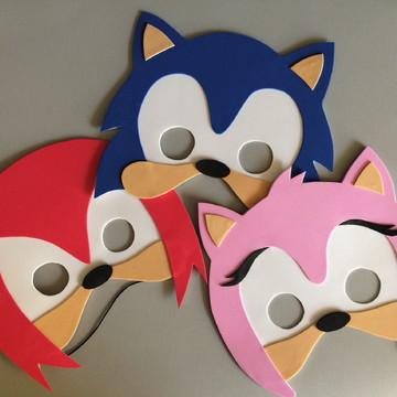 Lembrança mascaras em EVA - Tema Sonic