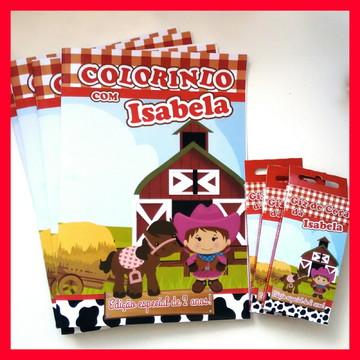 Kit de Colorir com Giz de Cera Fazendinha