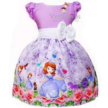 Vestido infantil sofia princesa sofia